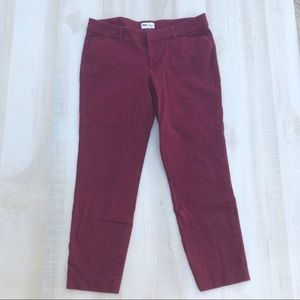 Old Navy Pixie pant size 12 wine color